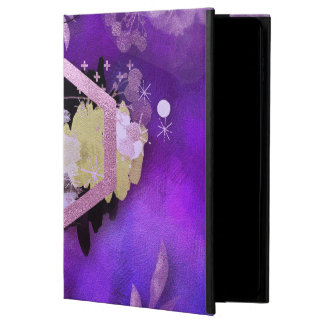 beautiful, ultra violet, abstract,collage,silver,f powis iPad air 2 case