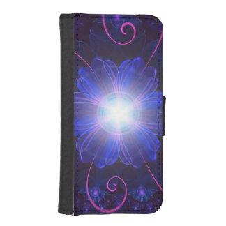 Beautiful Ultra Violet Fractal Nightshade Flower iPhone SE/5/5s Wallet Case