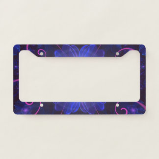 Beautiful Ultra Violet Fractal Nightshade Flower Licence Plate Frame