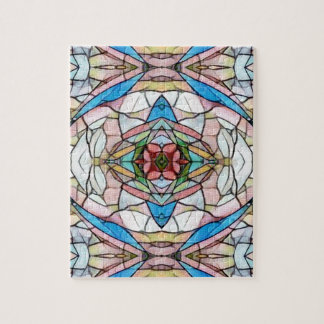 Beautiful Uncommon Artistic Stained Glass Pattern Jigsaw Puzzle