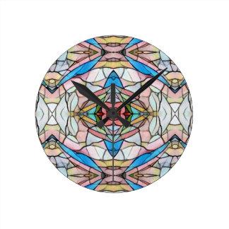 Beautiful Uncommon Artistic Stained Glass Pattern Wallclock