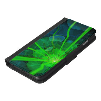 Beautiful Underwater Fractal Flower of Atlantis iPhone 6/6s Plus Wallet Case