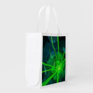 Beautiful Underwater Fractal Flower of Atlantis Reusable Grocery Bag