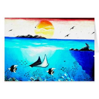 Beautiful Underwater Scene Painting Card