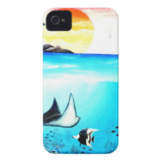 Beautiful Underwater Scene Painting Case-Mate iPhone 4 Cases
