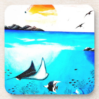 Beautiful Underwater Scene Painting Coaster