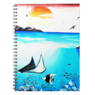 Beautiful Underwater Scene Painting Notebooks