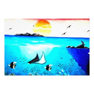 Beautiful Underwater Scene Painting Photo