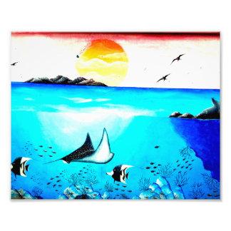 Beautiful Underwater Scene Painting Photograph