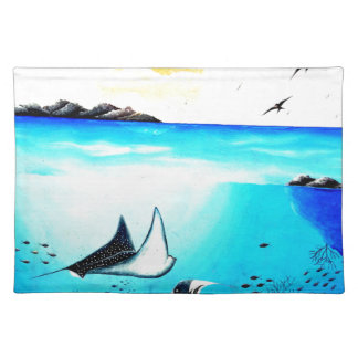 Beautiful Underwater Scene Painting Placemat