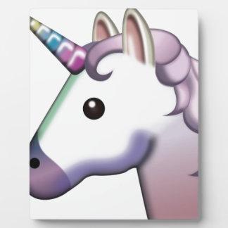 Beautiful Unicorn Emoji Plaque