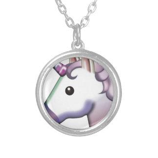 Beautiful Unicorn Emoji Silver Plated Necklace