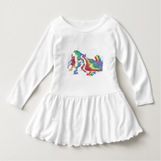 Beautiful Unicorn & Rainbows Mother & Baby Pegasus Dress