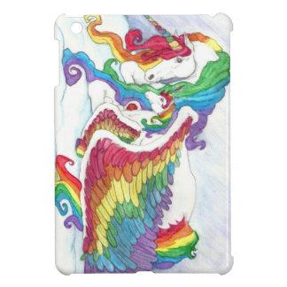 Beautiful Unicorn & Rainbows Mother & Baby Pegasus iPad Mini Covers