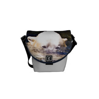 Beautiful Unique Polar Bear Custom Messenger Bag