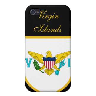 Beautiful United States Virgin Islands Flag Covers For iPhone 4