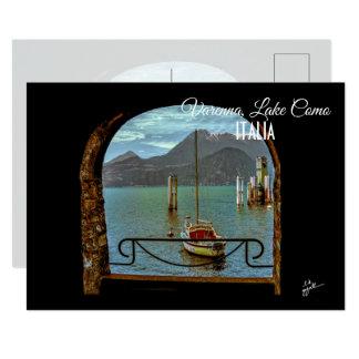 Beautiful Varenna Italy Boat Photo Postcard