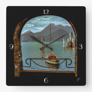 Beautiful Varenna Square Wall Clock