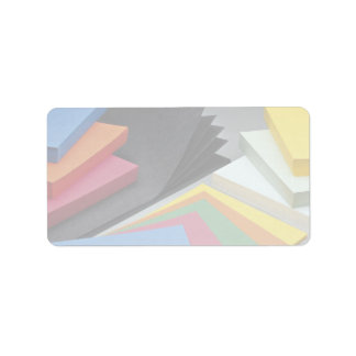 Beautiful Various colored cards Address Label