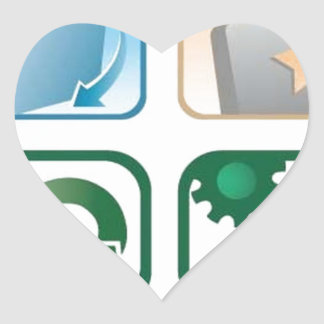 Beautiful vector icons heart stickers