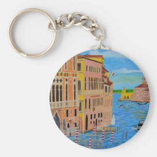 Beautiful Venice Basic Round Button Key Ring