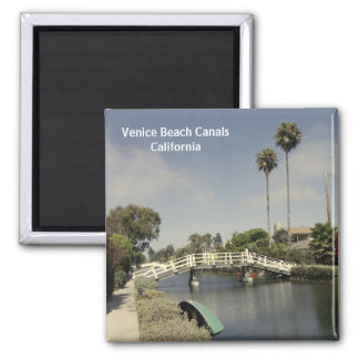 Beautiful Venice Beach Canals Magnet! Square Magnet