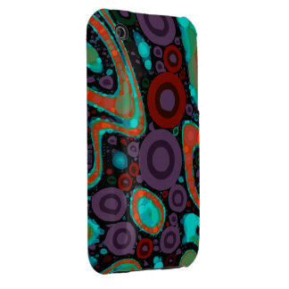 Beautiful Vibrant Swirly Abstract Pattern iPhone 3 Case-Mate Case