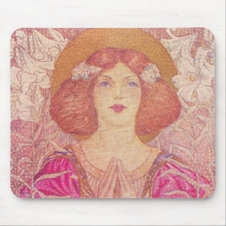 Beautiful Victorian Era Woman Mouse Pad