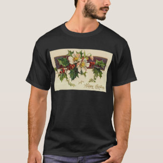Beautiful Victorian Vintage Holidays Christmas T-Shirt