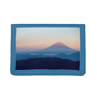 Beautiful view Mt. Fuji, Japan, Sunrise Trifold Wallets