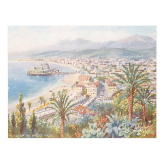 Beautiful View of Nice France Postcard