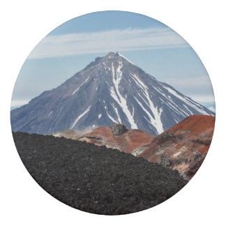 Beautiful view of the volcano landscape eraser