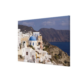 Beautiful village of Oia with white buildings Canvas Print