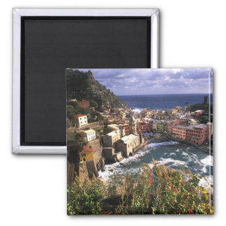 Beautiful Village of Vernazza in the Cinque Square Magnet