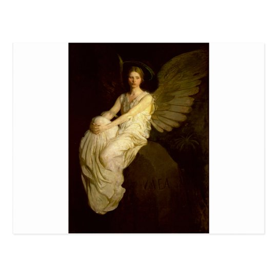Beautiful Vintage Angel - Abbott Handerson Thayer Postcard