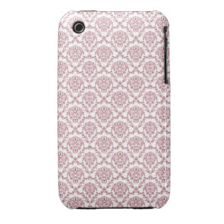 Beautiful vintage Art Nouveau pink wall pattern iPhone 3 Case-Mate Cases