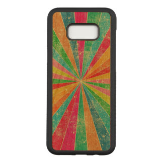 beautiful vintage colorful rainbow art carved samsung galaxy s8+ case