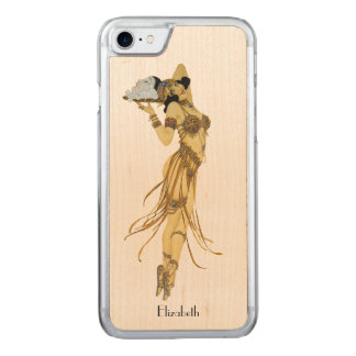 Beautiful Vintage Dancing Retro Girl Carved iPhone 8/7 Case