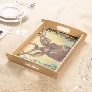 Beautiful Vintage Deer Art Food Trays