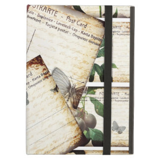 Beautiful Vintage Floral Postcards Collage Design Cover For iPad Air
