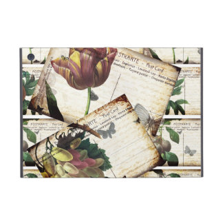 Beautiful Vintage Floral Postcards Collage Design iPad Mini Cases