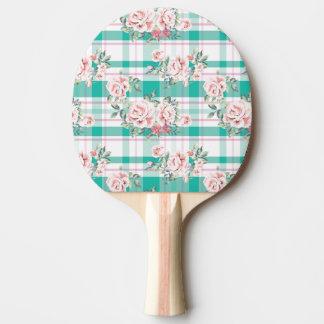 Beautiful Vintage Flowers Rose Pattern Ping Pong Paddle