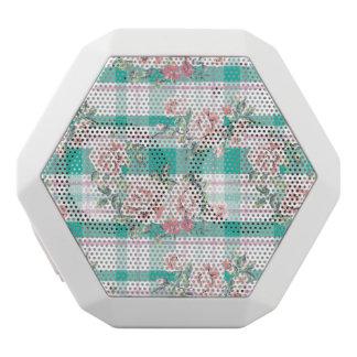Beautiful Vintage Flowers Rose Pattern White Bluetooth Speaker