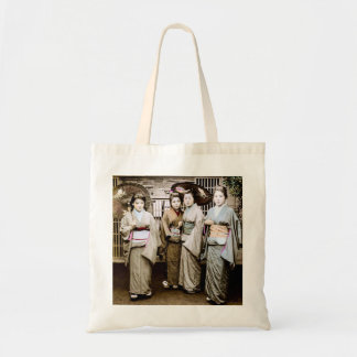 Beautiful Vintage Geisha in Kimonos Old Japan Tote Bag