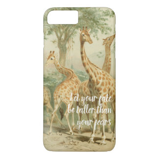 Beautiful vintage illustrated giraffe phone case