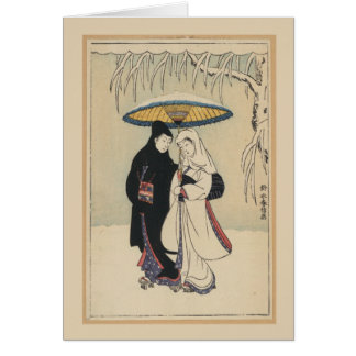 Beautiful Vintage Japanese Art, Geisha Card