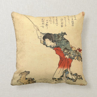 Beautiful vintage japanese art pillow