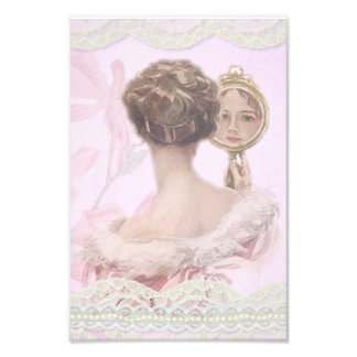 Beautiful Vintage Lady In Pink Photo