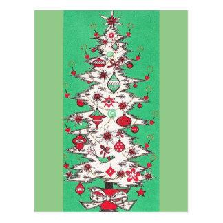 Beautiful Vintage Mid Century Mod Christmas Tree Postcard