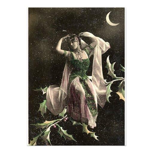 Beautiful Vintage Moon Bather Invitation